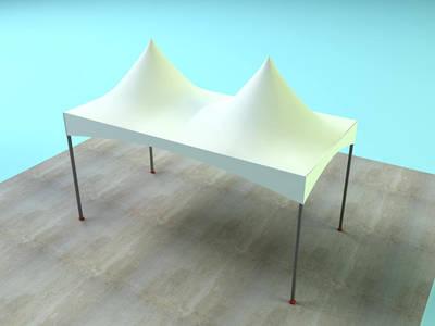 Soluções tenda pirâmide quatro águas