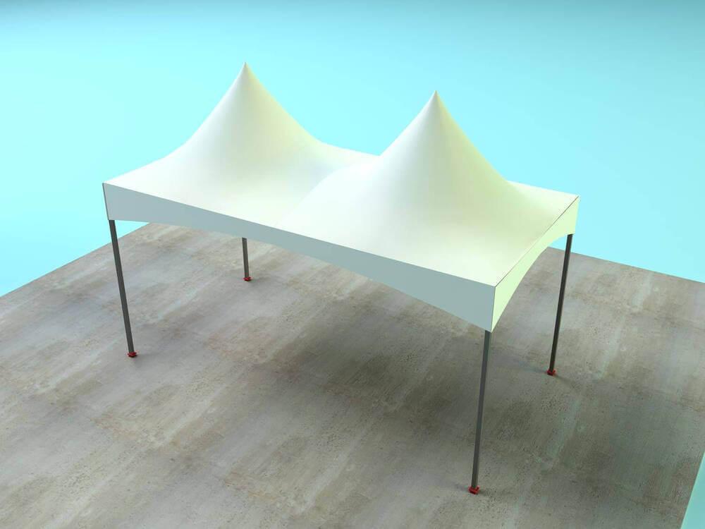 Soluções tenda pirâmide chapéu de bruxa